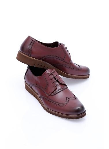 Wessi %100 Deri Oxford Ayakkabı Bordo